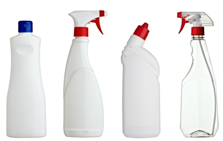 collection of various sanitary bottles on white background. each one is shot separately Stock Photo - 9238039