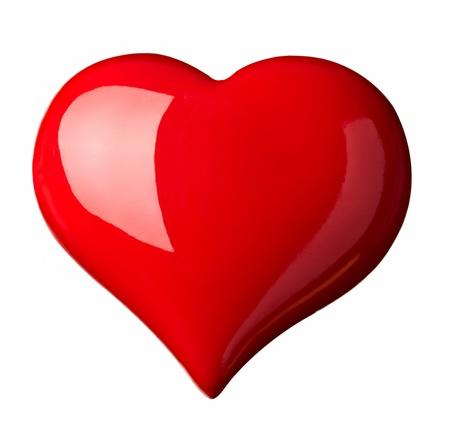 coeur sant�: symbole de forme coeur rouge sur fond blanc de pr�s