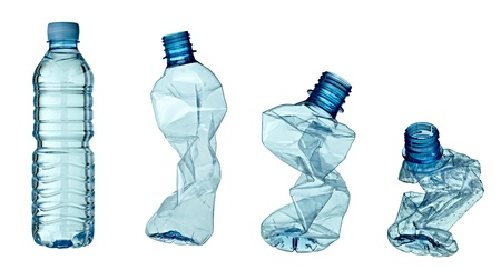 collection of empty used plastic bottles on white background. each one is shot separately Stock Photo - 9390536