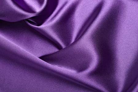 close up of purple silk textured cloth background Stock Photo - 9390600