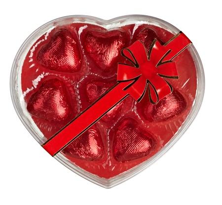 close up  of chocolate heart shape on white background  photo