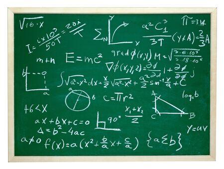 complicación: cerca de f�rmulas matem�ticas en una pizarra
