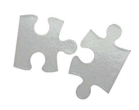 missing link: close up of a puzzle game parts