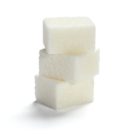sugar cubes: close up of sugar cubes on white background with clipping path Stock Photo