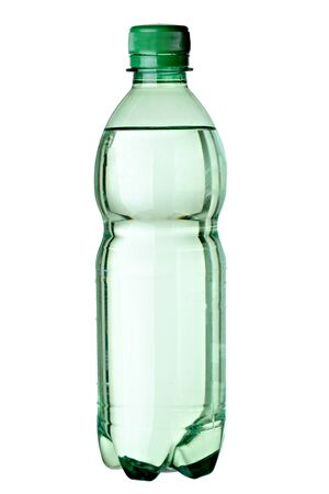 close up of an empty used plastic bottle on white background with clipping path Stock Photo - 9479582
