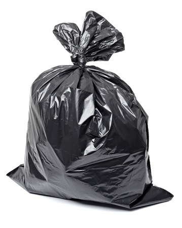 close up of a garbage bag on white background with clipping path Stock Photo - 9518179