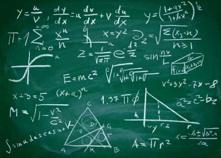 close up of math formulas on a blackboard Stock Photo - 9518192
