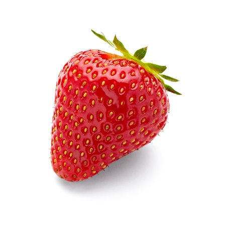 close up of strawberry on white background with clipping path Stock Photo