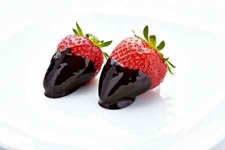 close up of strawberry with on white background Stock Photo - 9518195