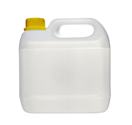 jugs: close up of a white container on white background