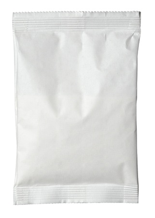 sealed: close up of paper bag on white background with clipping path Stock Photo