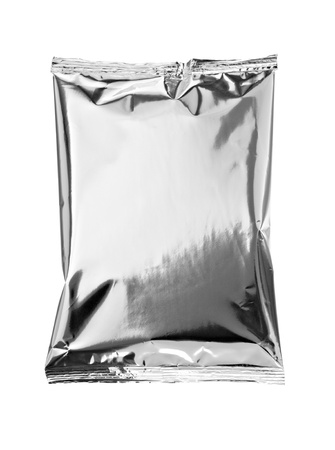 close up of an aluminum bag on white background with clipping path Stock Photo - 9591112