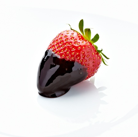 close up of strawberry with on white background  photo