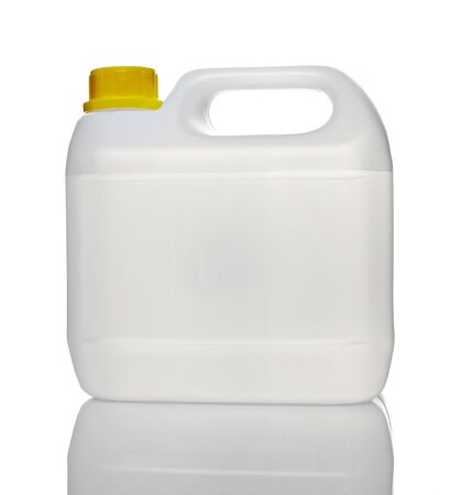 Canister: close up of a white container on white background