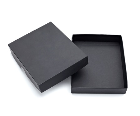 close up of a black box on white background  Stock Photo - 9774644