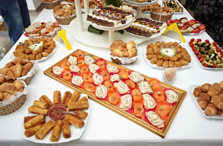 close up of catering food on table Stock Photo - 9774638