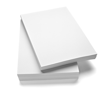 close up of stack of papers on white background Stock Photo - 9774649