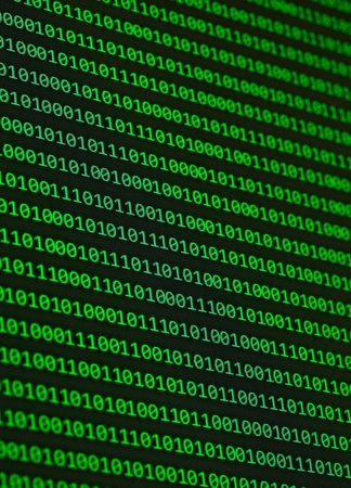 close up of binary numbers background pattern Stock Photo - 9774756