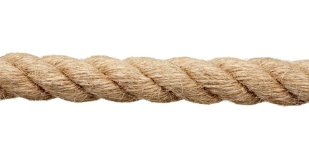 close up of a rope on white background with clipping path photo