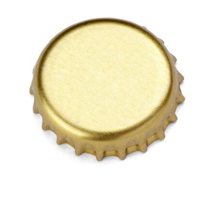 casquetes: cerca de un tap�n sobre fondo blanco con trazado de recorte