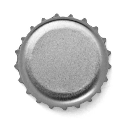 bar top: close up of  a bottle cap on white background  Stock Photo
