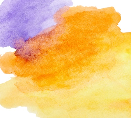 vibrant paintbrush: close up of  water color strokes painting on white background