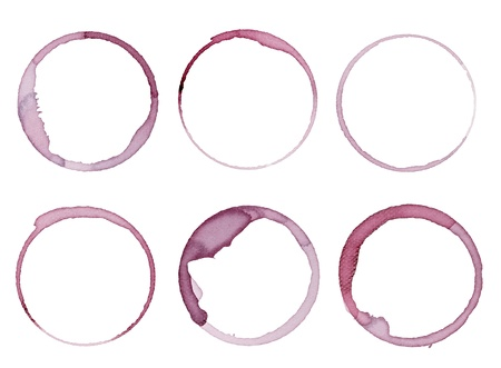 collection of  various wine stains on  white background. each one is shot separately Stock Photo - 9915567