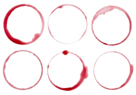 collection of  various wine stains on  white background. each one is shot separately Stock Photo - 9915564