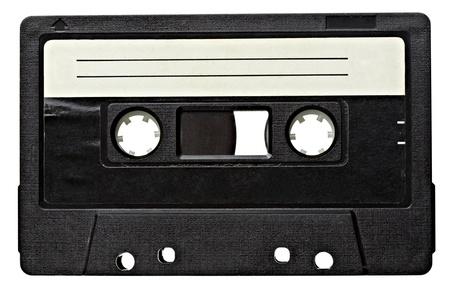 cintas: cerca de la cinta de audio de �poca en el fondo blanco