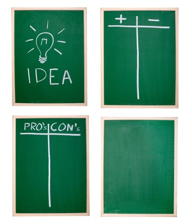 collection of various chalkboards Stock Photo - 10046211
