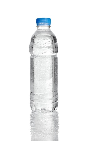 bottle water: close up of  water plastic bottle on  white background