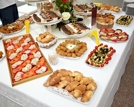 close up of catering food on table Stock Photo - 10046331