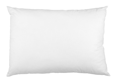close up of a pillow on white