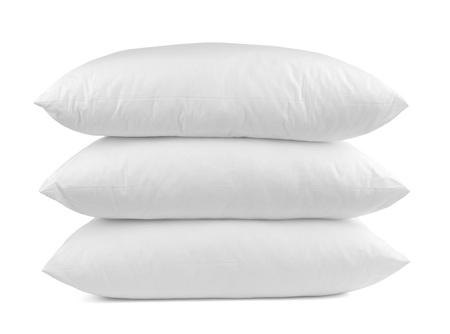 white pillow: close up of  a pillow on white background