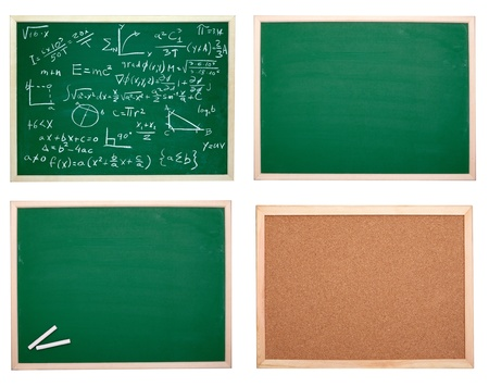 collection of various chalkboards Stock Photo