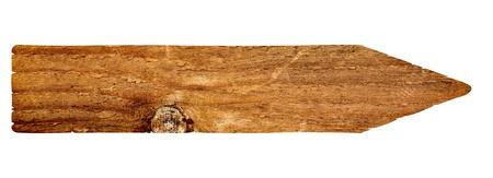 placa bacteriana: cerca de un signo de madera vacío sobre fondo blanco con trazado de recorte