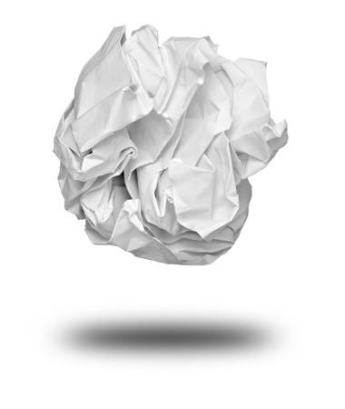 close up of a paper ball on white background photo
