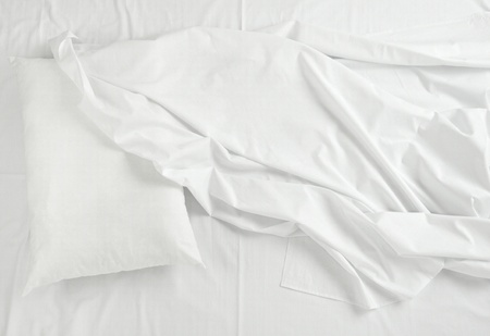 close up of bedding sheets and pillow Stock Photo - 10252594