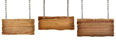 planche: la collecte des diff�rents panneaux en bois avec la cha�ne sur fond blanc. chacun est tir� s�par�ment