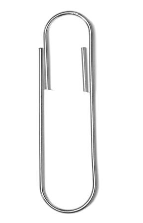 attachments: close up of a pushpin on white background with clipping path