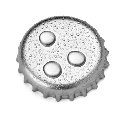 close up of  a bottle cap on white background with clipping path photo