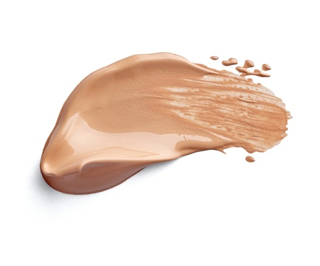 foundations: close up of  a make up powder on white background