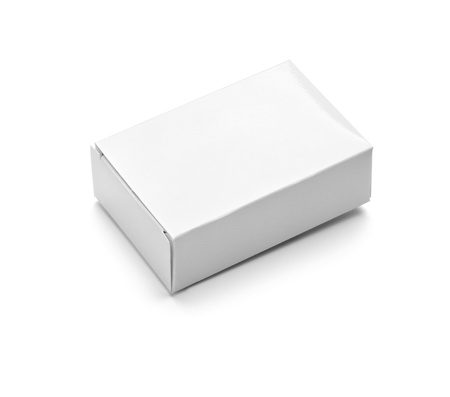 blank box: close up of  a white soapbox on white background