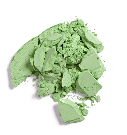 close up of  a make up powder on white background Stock Photo - 10511444