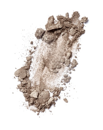 eyeshadows: close up of  a make up powder on white background