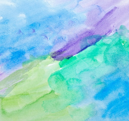 paint strokes: close up of  water color strokes painting on white background