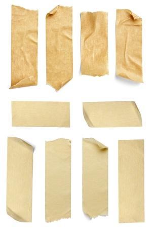 ?tapes: la collecte de divers morceaux de ruban adh�sif sur fond blanc. chacun est tir� s�par�ment