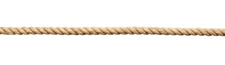 hanf: Nahaufnahme von einem Seil auf wei�em Hintergrund mit Clipping-Pfad Lizenzfreie Bilder