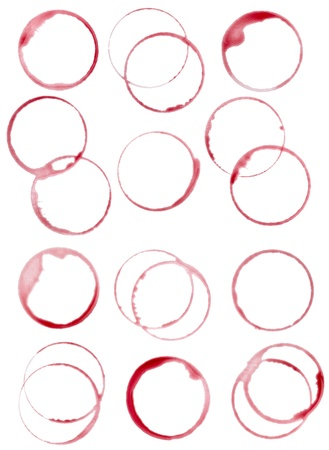 collection of  various wine stains on  white background. each one is shot separately Stock Photo - 10722872