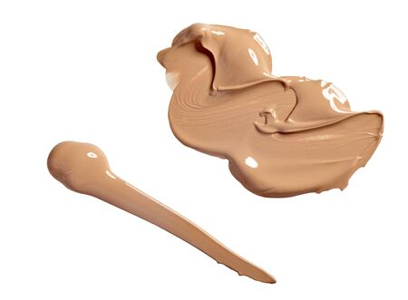 close up of  a make up powder on white background photo